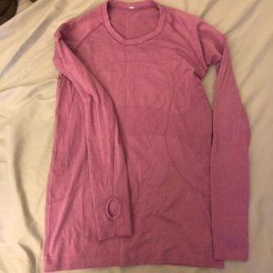 lululemon Pink swiftly tech long sleeve Size 8